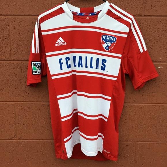 detailed look 3a6e9 cf09e Adidas FC Dallas MLS soccer jersey
